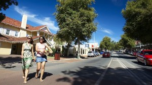 The main street of Margaret River