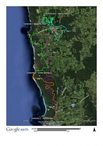 Margaret River Cycle Trek map