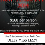New Years Eve Function @ Margaret River Hotel – 31st December 2014